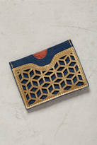 Anthropologie Lasercut Leather Card Holder