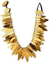 Viktoria Hayman Gold Foil Layered Petal Necklace