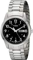 Timex Men's #T2M932 Silver-Tone Dress Watch With Expansion Band