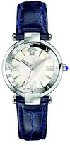 Versace Women's 'REVE' Swiss Quartz Stainless Steel and Leather Casual Watch, Color:Blue (Model: VAI010016)