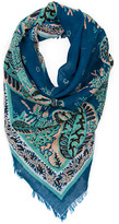 MANGO Paisley print cotton scarf
