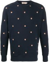 MAISON KITSUNÉ all-over fox-embroidered sweatshirt