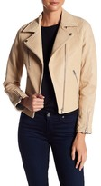 Doma Lou Genuine Leather Bonded Moto Jacket