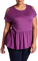 Gibson Cold Shoulder Peplum Blouse (Plus Size)