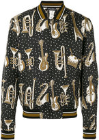 Dolce & Gabbana instrument print bomber jacket