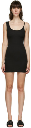 CHRISTOPHER ESBER SSENSE Exclusive Black Asymmetric Strap Mini Dress