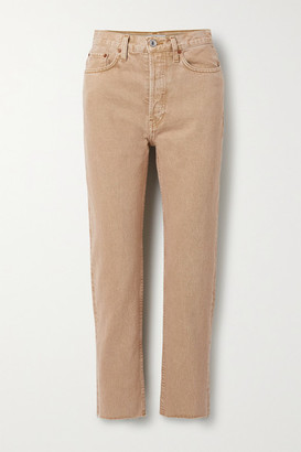RE/DONE 70s Originals Stove Pipe Cropped High-rise Straight-leg Jeans - Sand