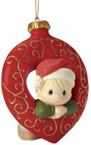 Precious Moments You Fill My Heart Boy Christmas Ornament