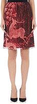 Lanvin WOMEN'S SEQUINED LAYERED KNEE-LENGTH SKIRT-BURGUNDY SIZE 40 FR