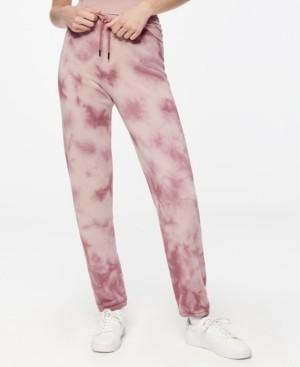 Andrew Marc Women's Tie Dye Fleece Sweatpant
