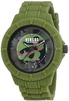 Versus By Versace Women's 'TOKYO R' Quartz Rubber and Silicone Casual Watch, Color:Green (Model: SOY110016)