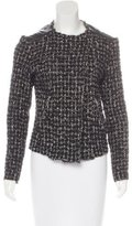 Generation Love Leather-Trimmed Tweed Jacket w/ Tags