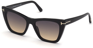 Tom Ford Poppy Plastic Cat-Eye Sunglasses
