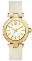 Tory Burch Classic T Watch With Leather Strap, 36mm