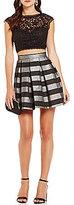 As U Wish Striped Skirt Two-Piece Dress