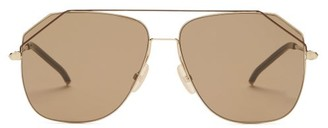 Fendi Wired Top-bar Aviator Sunglasses - Brown