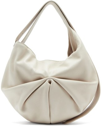 Tsatsas Sacar Ruched Slouchy-leather Shoulder Bag - Ivory