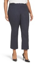 Sejour Plus Size Women's Marine Crop Flare Leg Pants