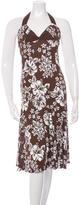 Michael Kors Floral Print Halter Tie Dress