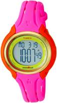 Timex Women's 'Ironman Sleek 50 Color Block' Quartz Resin and Silicone Running Watch, Color:Pink (Model: TW5M028009J)