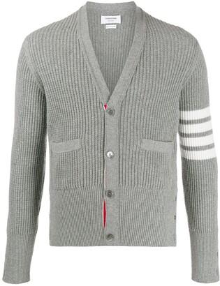 Thom Browne 4-Bar V-neck cardigan