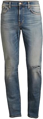 Nudie Jeans Lean Dean Repairs Straight Leg Jeans