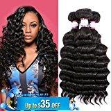 Doris beauty 8A Brazilian Virgin Hair Deep Wave Hair Extensions 3 Bundles 20inch 100% Unprocessed Virgin Brazilian Hair Loose Deep Wave Human Hair Weave Hair Extensions