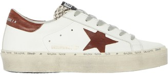 Golden Goose Hi Star Low-Top Leather Sneakers