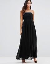 Little Mistress Bandeau Maxi Dress with Embellishment