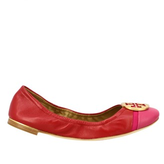 Tory Burch Minnie Ballet Flat In Nappa Leather With Emblem