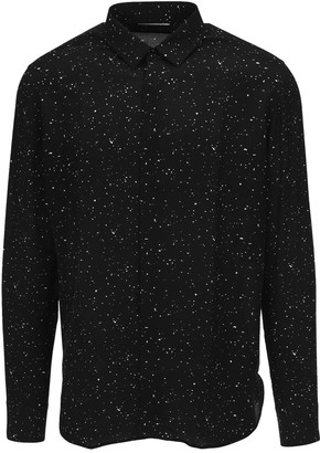 Saint Laurent Paint Splatter Print Shirt