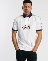 Tommy Hilfiger Tommy Hilifger howard logo polo in white