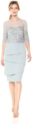 Adrianna Papell Women's Short Dress with Beaded Bodice