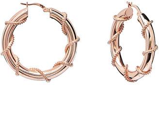 GABIRIELLE JEWELRY Rose Gold Over Silver Earrings