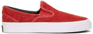 Converse Red One Star CC Slip-On Sneakers