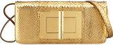jennifer lopez  Who made  Jennifer Lopezs white studded bracelet, gold clutch handbag, and black suede pumps that she wore on October 9, 2014?