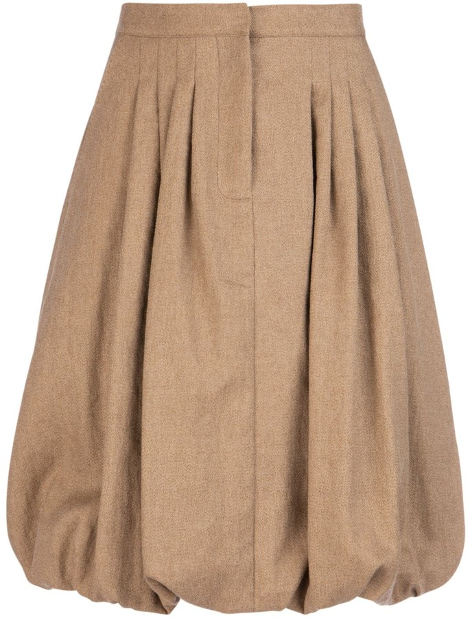 Burberry Pleated Bubble Hem Skirt