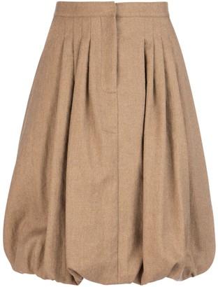 Burberry Pleated Bubble Hem Skirt