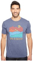 Life is Good Mountains Cool Tee Men's T Shirt