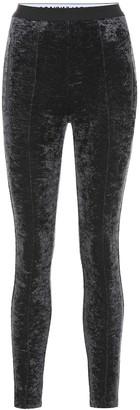 Balenciaga Velvet leggings