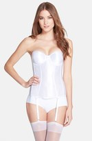 Va Bien Women's Smooth Satin Hourglass Bustier