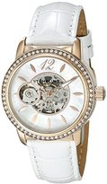 Stuhrling Original Legacy Delphi 856 Women's Automatic Watch with Mother Of Pearl Dial Analogue Display and White Leather Strap 856.03