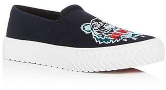 Kenzo Women's K-Skate Embroidered Slip-On Sneakers