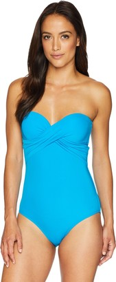 Jets Women's Jetset Drape Bandeau One Piece Swimsuit