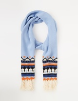 Maison Scotch Supersoft Fairisle Knitted Scarf