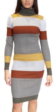 Almost Famous Juniors' Striped Bodycon Midi Dress