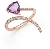 Bloomingdale's Amethyst and Diamond Open Swirl Ring in 14K Rose Gold