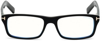 Tom Ford 55MM Square Blue Block Filter Optical Glasses