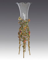 Jay Strongwater Floral Standing Vase