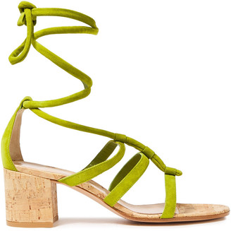 Gianvito Rossi Cayman 60 Suede Sandals